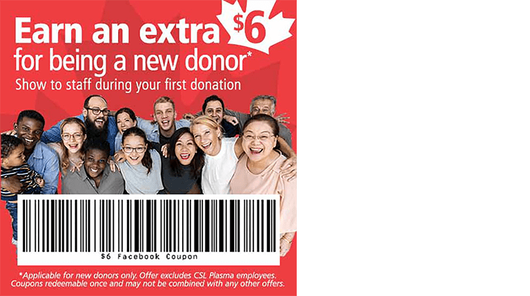 New Donor Coupon