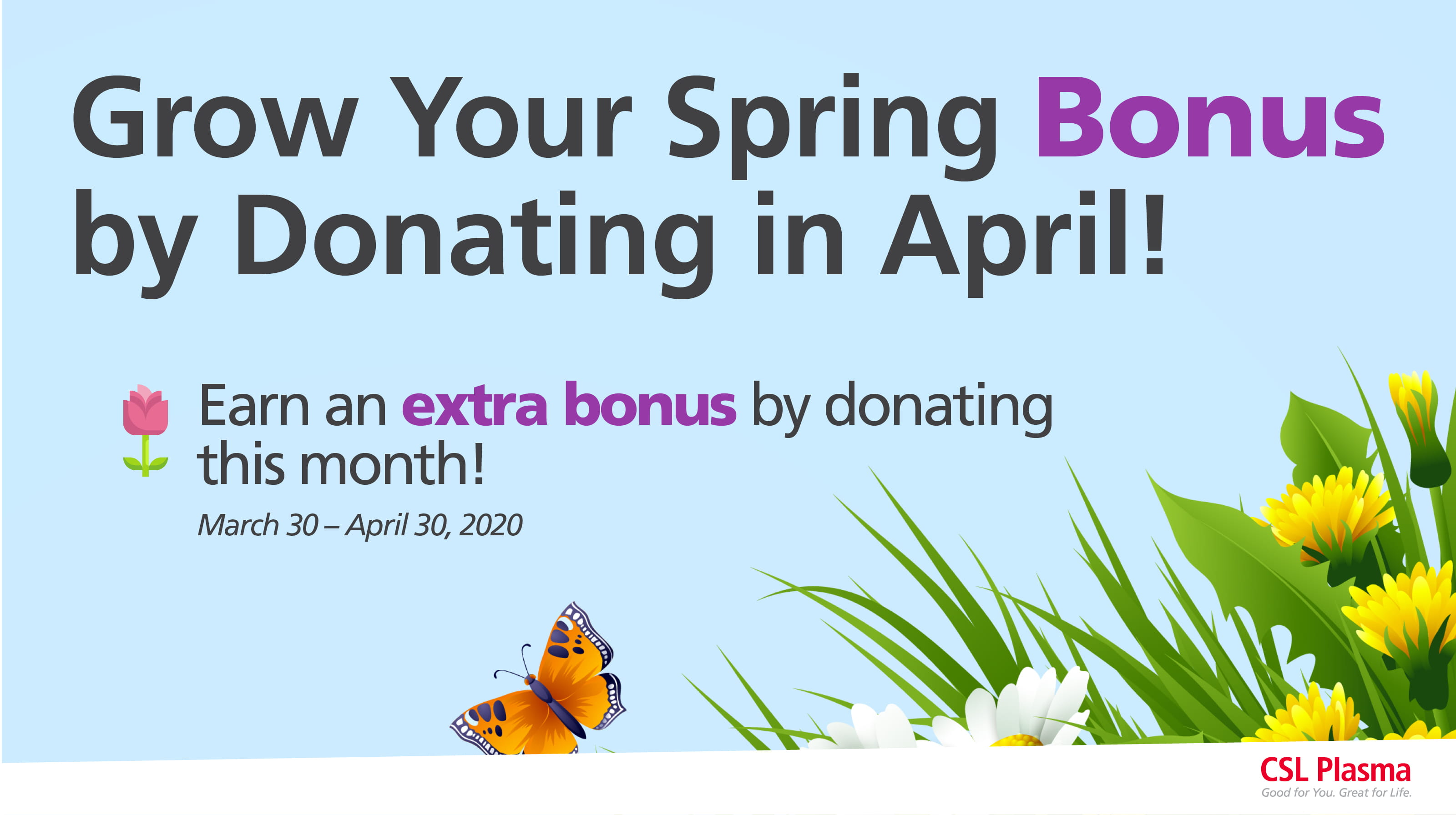 April Bonus Promotion